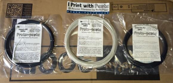 proto-pasta-3d-filament-samples