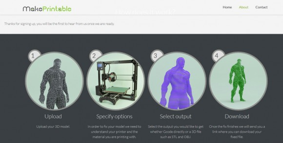 Makeprintable an upcoming web based service for better 3d Web based 3d modeling