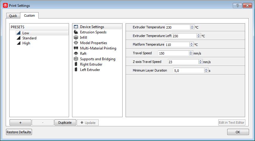 Makerbot replicator 2x software