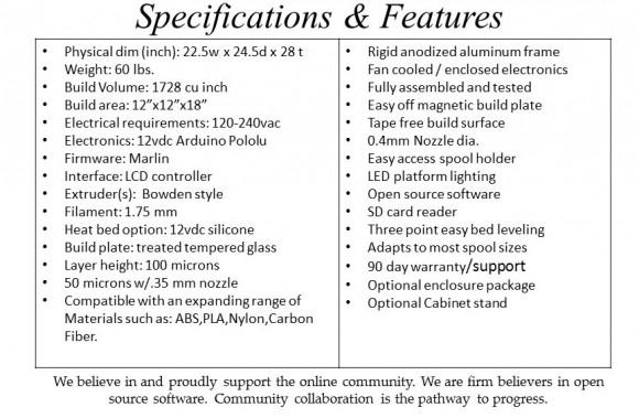 creatorbot-3d-printer-specs